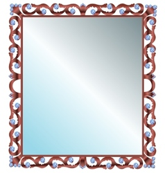 Mirror in frame vector