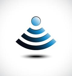 Wireless network symbol vector image