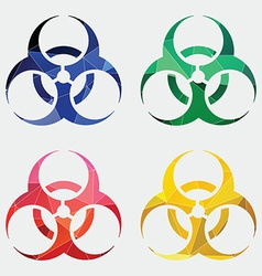 Bio hazard icon abstract triangle vector