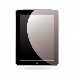 computer tablet black vector image