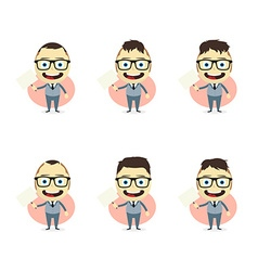 Businessman cartoon set vector