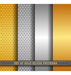 Set of gold silver pattern11 vector