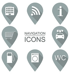 Set of navigation icons flat design service vector