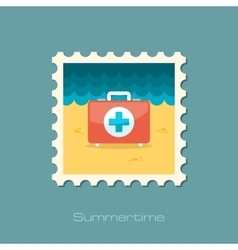 First aid flat stamp vector