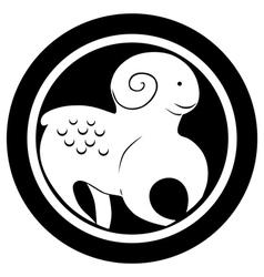 ram tattoo vector image