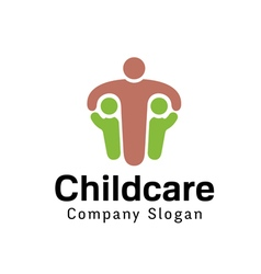 Child care design vector
