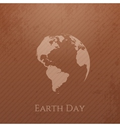 Earth day cardboard banner design vector