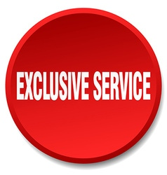 Exclusive service red round flat isolated push vector