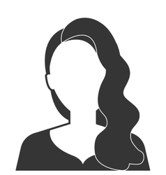 Young executive woman profile icon vector