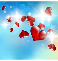 A bright flow hearts vector