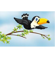 A flying bird vector