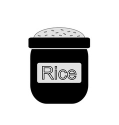 Bag of rice icon vector