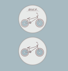 Bicycle badge vector