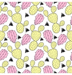 Cactus pastel seamless pattern. vector