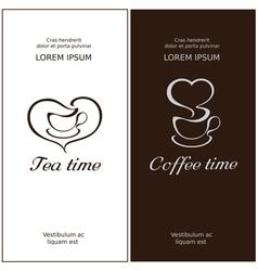 Cofee time and tea time vector image