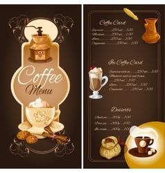 Coffee cafe menu vector image vector image