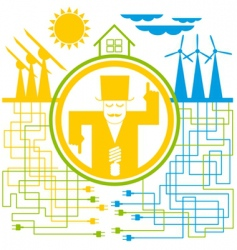 concept save the energy vector image
