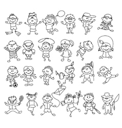 Doodle children on vacation vector image vector image