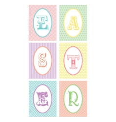 easter monograms vector image vector image
