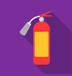 fire extinguisher icon flat single silhouette vector image vector image