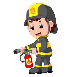 firefighter cartoon vector image