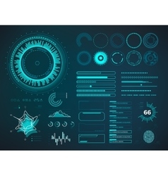 Futuristic user interface hud infographic vector