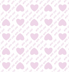 Heart shape love valentines day seamless pattern vector image vector image