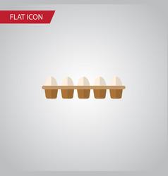 isolated egg flat icon eggshell box vector image