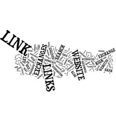 Link exchange q and a text background word cloud vector