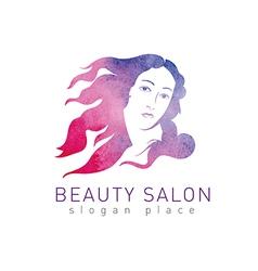 Logo beauty salon vector