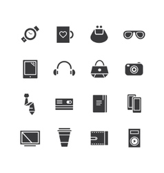 Mobile objects icons set mobile electric vector