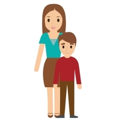 Mother and son family design vector