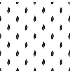 Narrow toothed leaf pattern vector