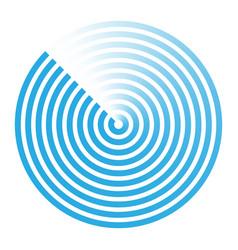 radar abstract icon symbol vector image vector image