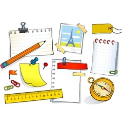 Stationery set vector