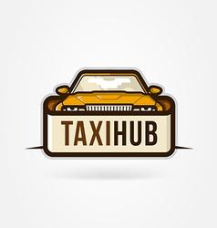 Taxi hub icon vector