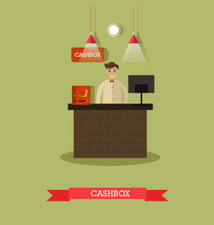ticket office and cashier vector image vector image