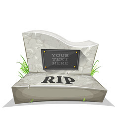Tombstone with rip inscription vector