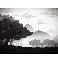 Tree silhouette puppet style vector