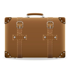 old suitcase for travel 01 vector image