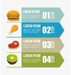 Nutritions infographic presentation icons vector