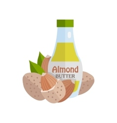 Almonds with almond butter vector