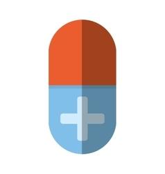 Medical pill capsule drugs cross shadow vector