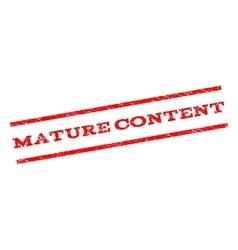 Mature content watermark stamp vector