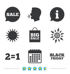 Sale speech bubble icons black friday symbol vector