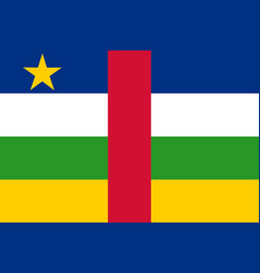 Colored flag of the central african republic vector