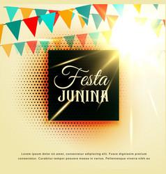 June party of festa junina latin american festival vector