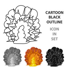 Explosion icon in cartoon style isolated on white vector