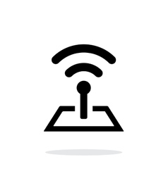 Radio tower base icon on white background vector