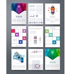 Computer technology templates flyer vector